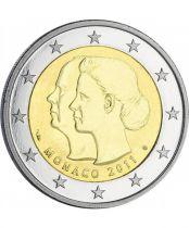 Monaco Monaco - 2 euros BU 2011 - Mariage Royal - FDC