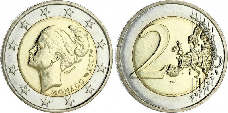 Monaco Monaco 2 Euros Grace Kelly - 2007 Bimetal