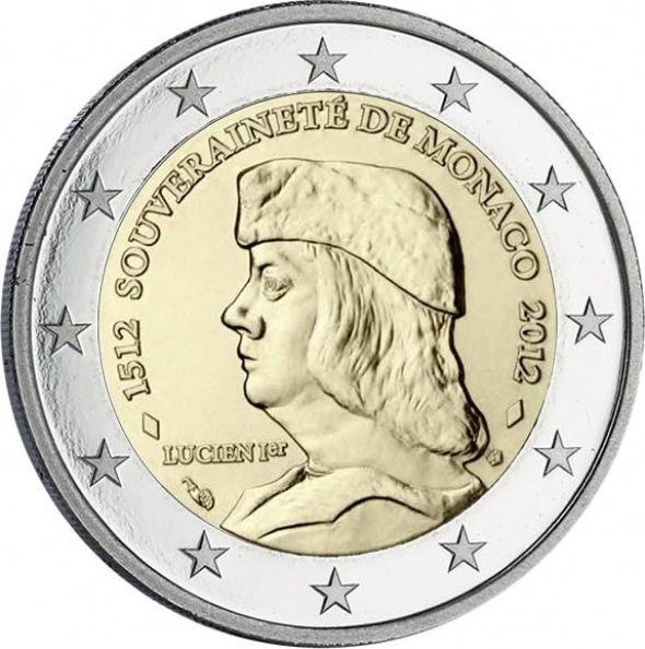 Monaco Monaco 2 Euros Lucien Grimaldi - 1512- 2012