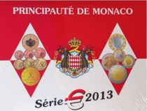 Monaco Proof set 9 coins BU 2013 - Albert