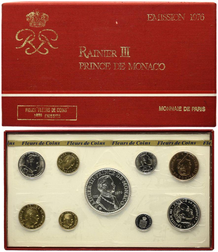 Monaco Série 9 pièces FDC Rainier III - 1976