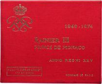 Monaco Série FDC 8 pièces Rainier III - 1949-1974 - 25 ans de règne