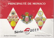 Monaco Set BU Euro - Monaco 9 coins - 2011 - Wedding