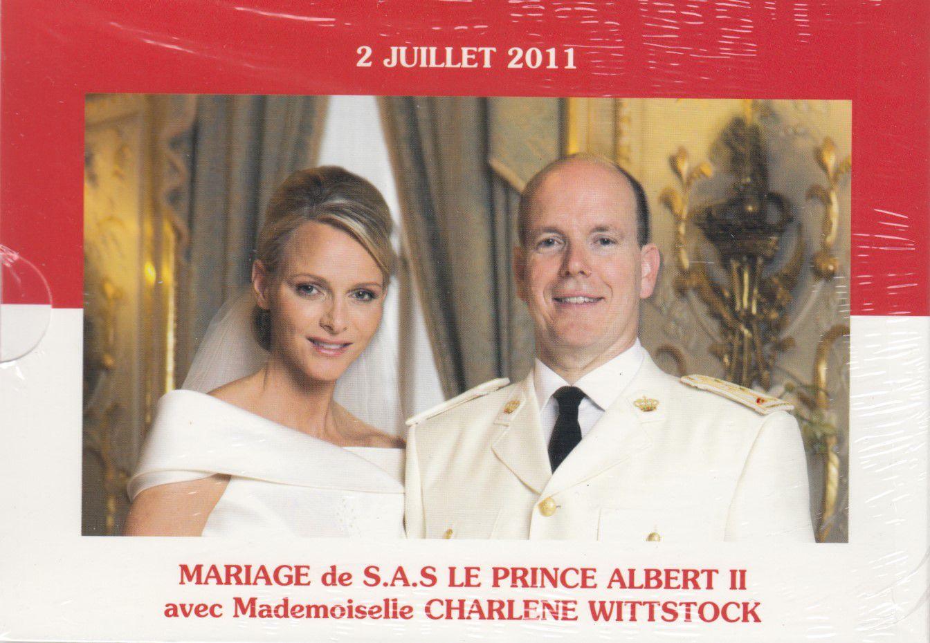 Monaco Set BU Euro - Monaco 9 coins - 2011 - Wedding