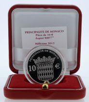 Monaco Set Monaco - 10 euros BE silver 2012 - Honore II 400 th anniversary of rule