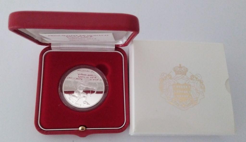 Monaco Set Monaco - 10 euros BE silver Hercules - Heracles 2014