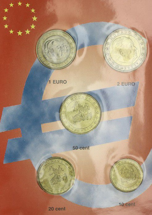 Monaco SET.2002 Set of 5 coins in euros Rainier III - 2002