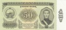 Mongolia 50 Tugrik1966 -  Sukhe-Bataar