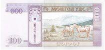 Mongolie 100 Tugrik Sukhe-Bataar - Chevaux