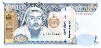 Mongolie 1000 Tugrik Ghengis Khan - Yourte