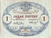 Monténégro 1 Perpera 1914 - Armoiries - Série II .45