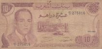 Morocco 10 Dirhams  Hassan II - 1970 - G to F  - P.57a - Serial BC/31