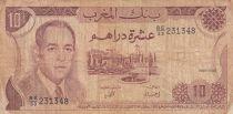 Morocco 10 Dirhams  Hassan II - 1985 - aFINE  - P.57b - Serial BE/33