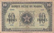 Morocco 10 Francs - 01-05-1943 - Fine - Serial D.293 - P.25a