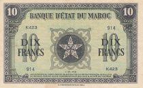 Morocco 10 Francs - 01-08-1943 - VF - Serial K.243 - P.25b