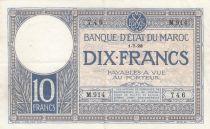Morocco 10 Francs 01-07-1928 - VF - Serial M.914 - P.11b