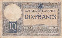 Morocco 10 Francs 06-03-1941 - Fine - Serial F.1678 - P.17b