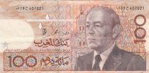 Morocco 100 Dirhams - Hassan II - 1987 - P.65 - VF +