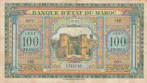 Morocco 100 Francs - 01-05-1943 - VF - Serial o.71 - P.27a