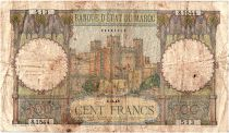 Morocco 100 Francs - Ksar d\'Aït-ben-haddou - 01-03-1945 - Fine - Serial S.1544 - P.20