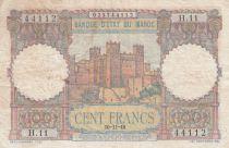 Morocco 100 Francs - Ksar d\'Aït-ben-haddou - 10-11-1948 - VF - Serial H.11 - P.45