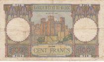 Morocco 100 Francs - Ksar d\'Aït-ben-haddou - 14-05-1941 - Fine to VF - Serial F.914 - P.20