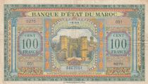 Morocco 100 Francs - Meknes -  1943 - VF - Serial S275 - P.27