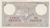 Morocco 20 Francs Minaret - 01-03-1945 - XF - R.1861-470 - P.18b