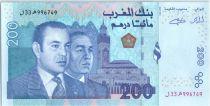 Morocco 200 Dirham Mohamed VI - Hassan II - 2002