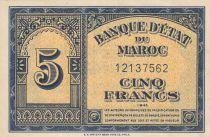 Morocco 5 Francs - 01-08-1943 - AU - P.24