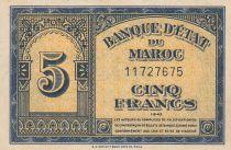 Morocco 5 Francs - 01-08-1943 - XF - P.24