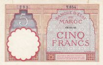 Morocco 5 Francs 14-11-1941 - XF  - Serial  T.854 - P.23Ab