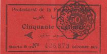 Morocco 50 Centimes Protectorat - 1919 - VF to XF - P.5