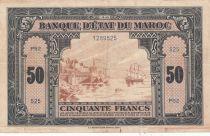 Morocco 50 Francs - 01-08-1943 - VF - Serial P52 - P.26a