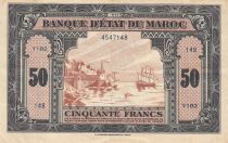 Morocco 50 Francs - 01-08-1943 - VF - Serial Y182 - P.26a