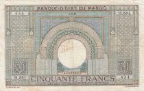 Morocco 50 Francs 01-03-1945 - VF - Serial H.881 - P.21