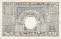 Morocco 50 Francs 01-03-1945 - XF - Serial D.803 - P.21