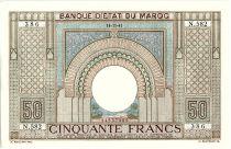 Morocco 50 Francs 14-11-1941  - XF + - Serial N.582- P.21