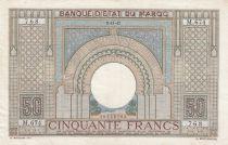 Morocco 50 Francs 14-11-1941 - VF - Serial M.674- P.21