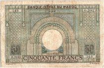 Morocco 50 Francs 28-10-1947 - Fine- Serial O.2042 - P.21