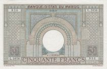 Morocco 50 Francs 28-10-1947 - XF - large type - Serial L.1656 - P.21