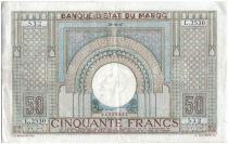Morocco 50 Francs Arch - 1947