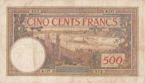 Morocco 500 Francs City of Fez - 03-05-1946 - F to VF - Serial R.137 - P.15b
