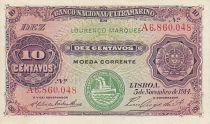 Mozambico 10 Centavos Woman, boat