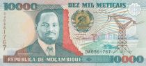 Mozambico 10000 Meticais J. Chissano - Plowing - 1991