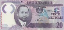 Mozambico 20 Meticais 2011 - S. M. Machel - Rhinoceros Polymer