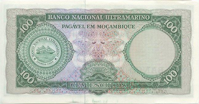 Mozambique 100 Escudos Aires de Ornelas