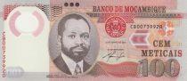 Mozambique 100 Meticais 2011 - S. M. Machel - Girafes Polymer