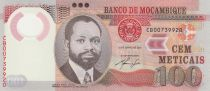 Mozambique 100 Meticais 2011 - S. M. Machel - Giraffes Polymer