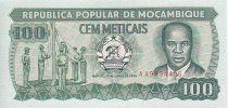 Mozambique 100 Meticais E. Mondlane - Flag ceremony